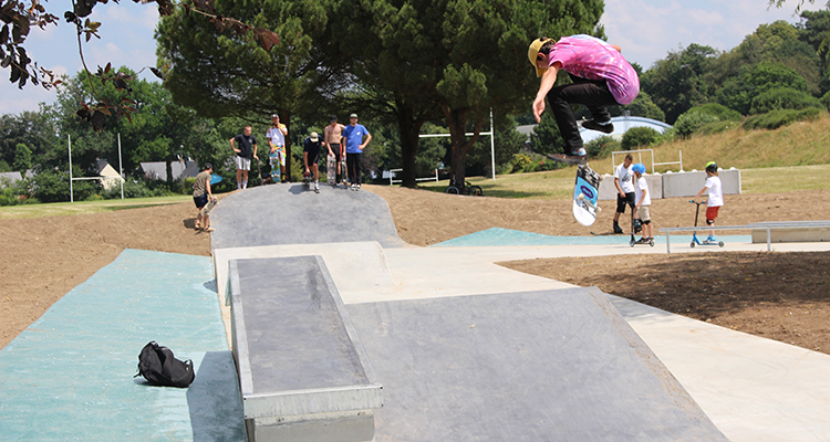 Skatepark à Hennebont